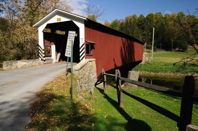 Whire Rock Forge Covered Bridge - ID: 7340557 © GARY  L. ROHRBAUGH
