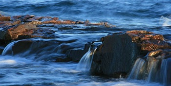 Rock shelf at Grand Marais