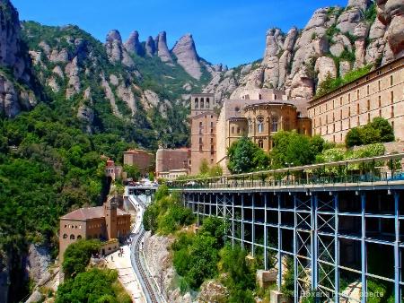 Monserrat Monastery near Barcelona, Spain
