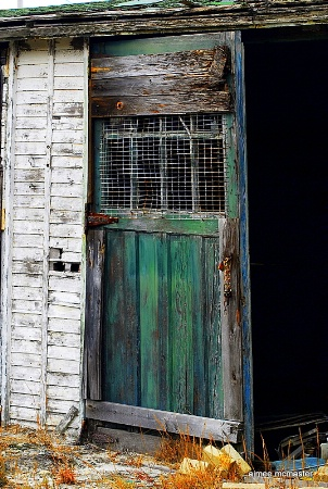 beach shed door