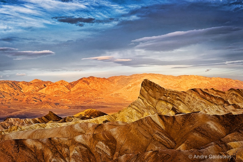 First light at Zabriskie Point, Death Valley