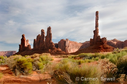 Cathedral Spires, Monument Valley AZ - ID: 7426968 © Carmen B. Sewell