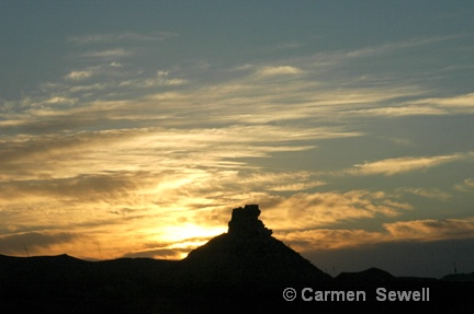Big Bend Sunset - ID: 7434796 © Carmen B. Sewell