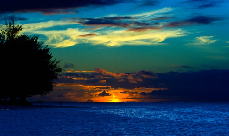 Sunset at Anini Beach Park