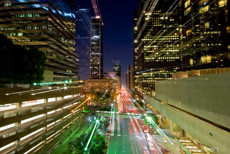 Los Angeles skyline a la zoom.