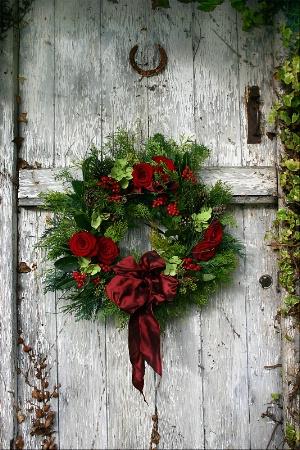 Christmas door  wreath 2008