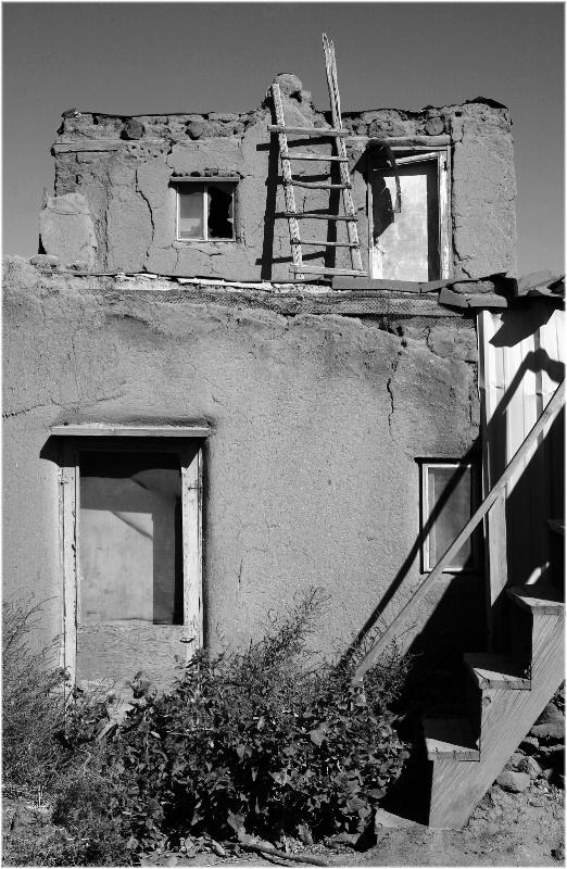 Pueblo in Black and White