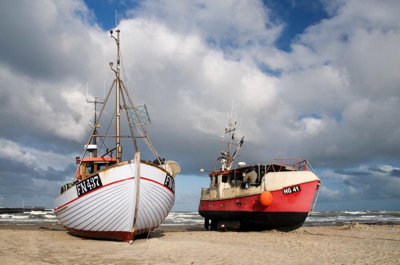 Fishingboats on the Beach