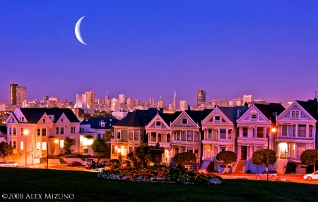 Crescent Moon Suits Painted Ladies
