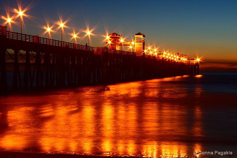 Night Lights~ Oceanside Pier - ID: 7580049 © Donna La Mattino Pagakis
