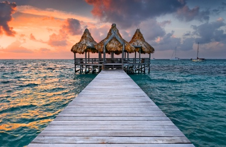 Pier in Belize