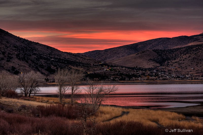 Topaz Lake Sunset