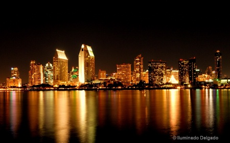 San Diego Night Skyline
