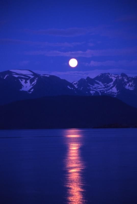 Moon Rising over the Kenai Peninsula #2 - ID: 7688308 © Larry Lightner