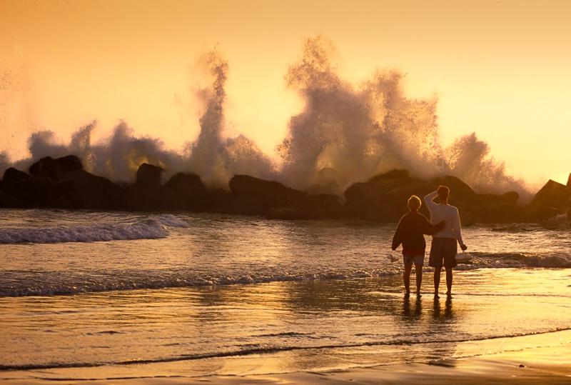 Sunset Stroll on Venice Beach