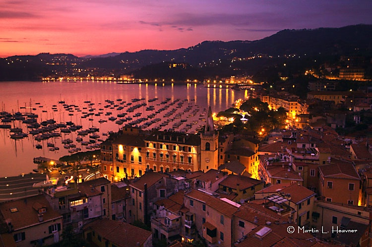 Lerici Harbor at Dusk - ID: 7736885 © Martin L. Heavner