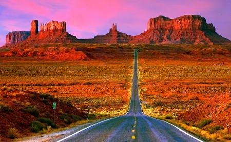 Daybreak on Highway 191