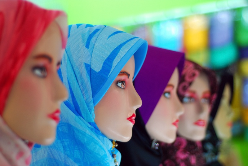 Mannequins in Headscarf