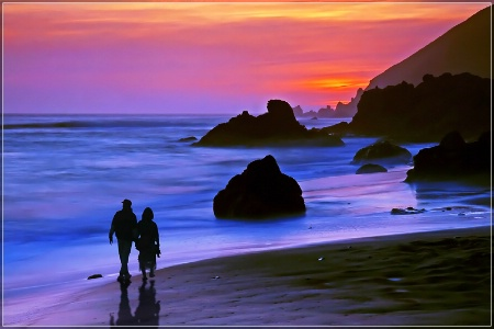 A Romance at Pfeiffer State Beach
