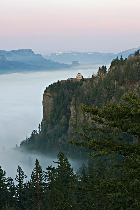 vista house above the fog