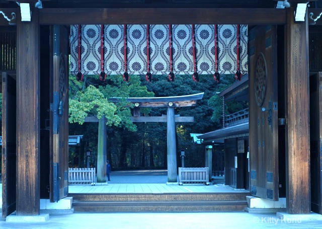 Door Exiting Meiji Shrine - ID: 7822317 © Kitty R. Kono