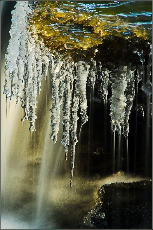 Ice Covered  Cascade