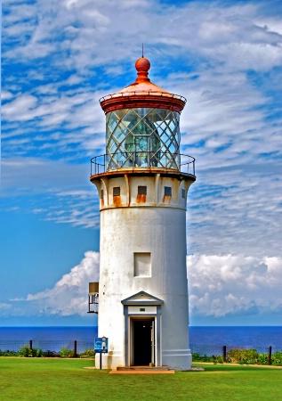 Lighthouse on Beautiful Sky