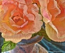 DenimBlue Vase with Flowers1