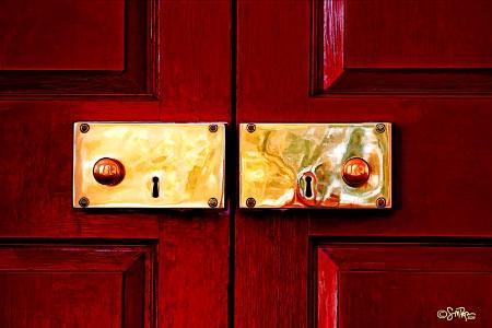 Twin Door Knobs