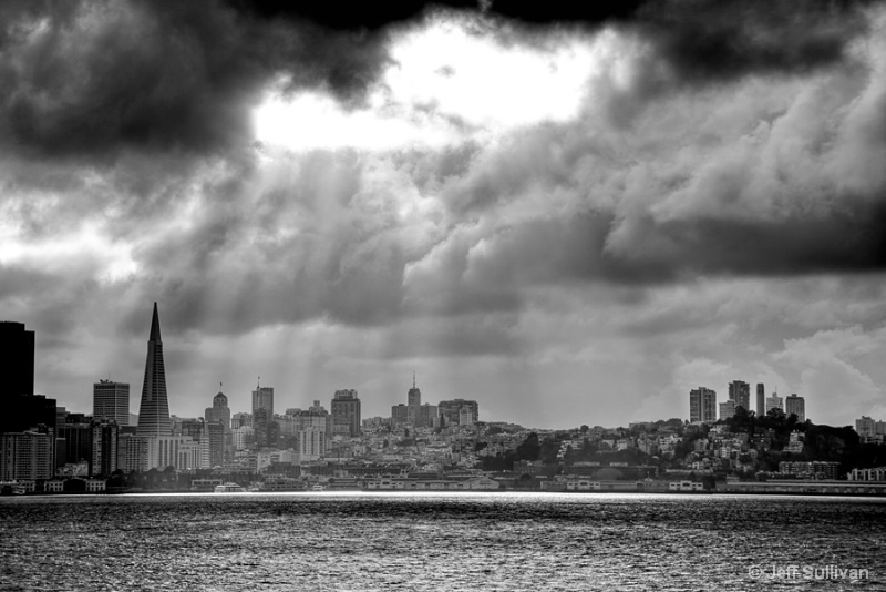 Light Rays Over San Francisco