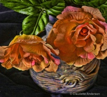 DenimBlue Vase with Flowers 7