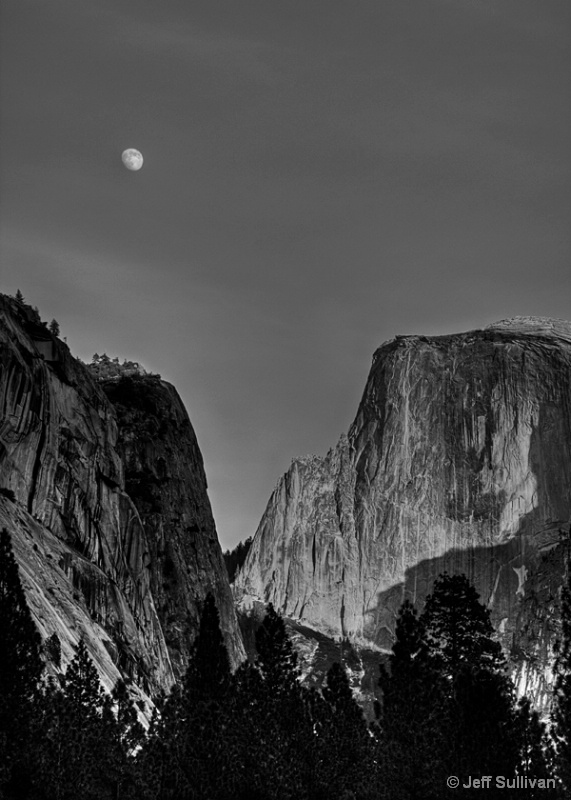 Moonrise by Half Dome