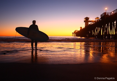Surfer's Silhouette at Sunset
