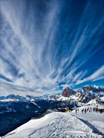 on top of the Dolomites