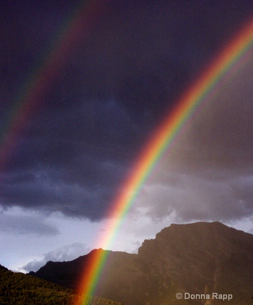 rainbow in canmore - ID: 8003835 © Donna Rapp