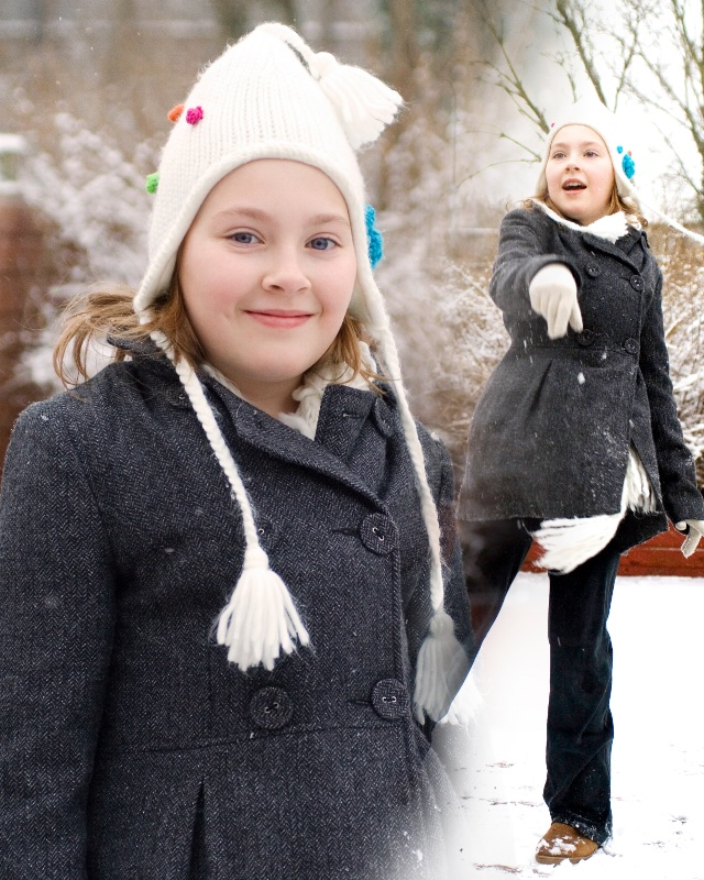 jessy in snow montage