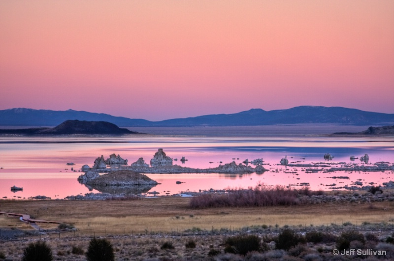 Pink Mono Lake Sunset
