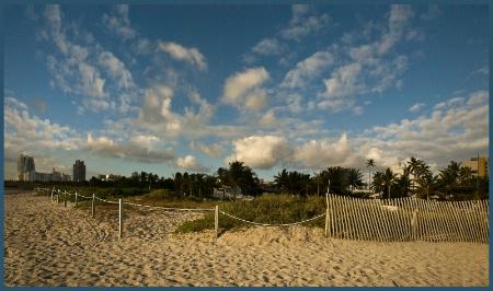 Florida:  Miami City From Miami Beach