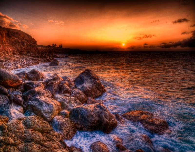 Rocky Shores & Sunset Skies
