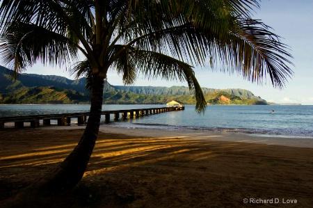 Hanalei Pier on Kaua'i, Hawaii