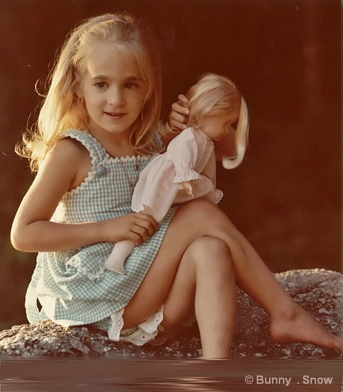 Heather, age 4, with Mandy