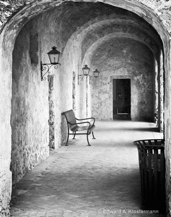 Light Under the Door, San Jose Mission - ID: 8308075 © Edward A. Klostermann