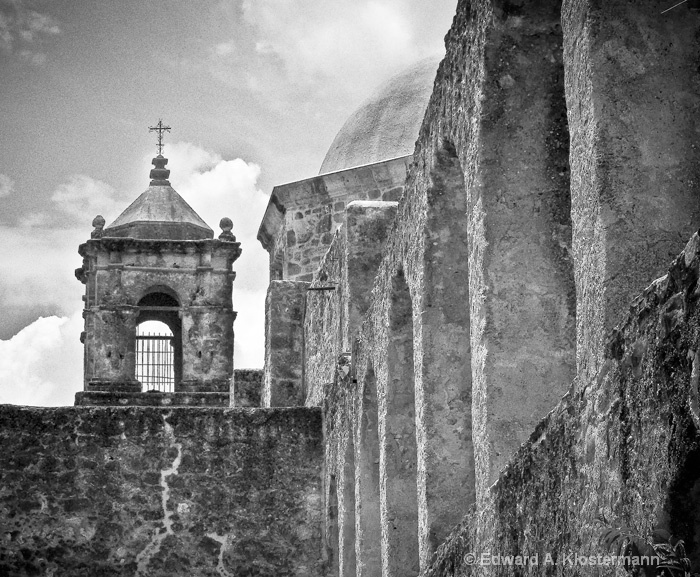 Courtyard View, San Jose Mission, San Antonio, TX - ID: 8308079 © Edward A. Klostermann
