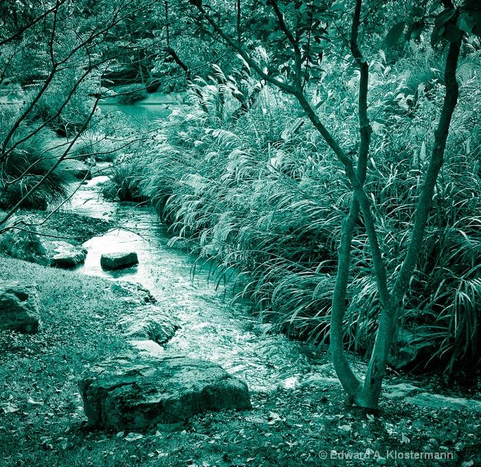 Stream, Japanese Garden, Mobot - ID: 8308084 © Edward A. Klostermann