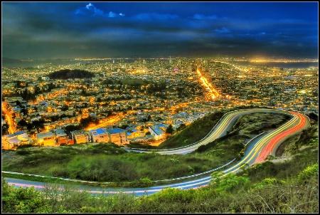 San Francisco night scene