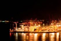 Nightime Vancouver Wharf