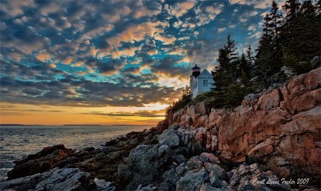 Sunset at Bass Harbor Light