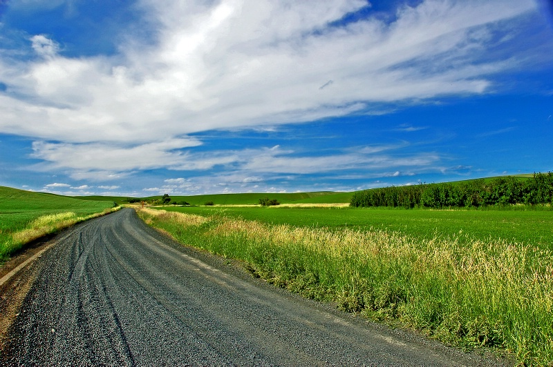Road to the sky, Palouse Hills