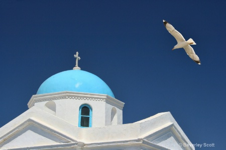 Looking up in Mykonos