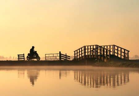 Motorbike at Sunrise